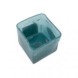 Cubo Di Vetro Azzurro