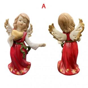 Angelo in Ceramica Rosso...