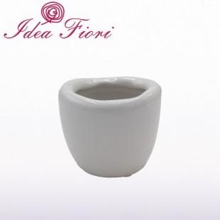 Coprivaso Bianco In Ceramica