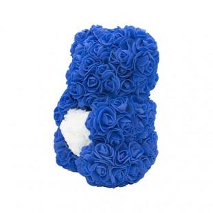 Teddy Rose in Foam Blu con...