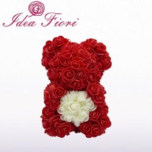 Teddy Rose in Foam Rosso...