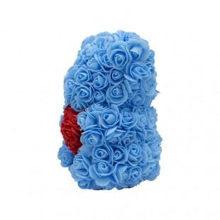 Teddy Rose in Foam Azzurro...