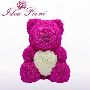 Teddy Rose Fucsia con Cuore...