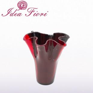 Vaso Cilindrico Nero e Rosso