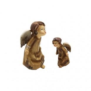 Angeli in Ceramica Marrone