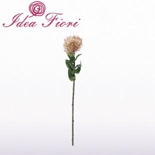 Protea Rosa Artificiale Bruco