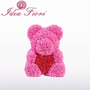 Teddy Rose In Foam Rosa con...