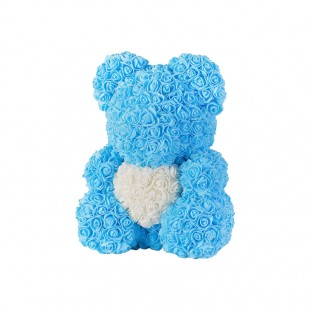 Teddy Rose in Foam Azzurro...