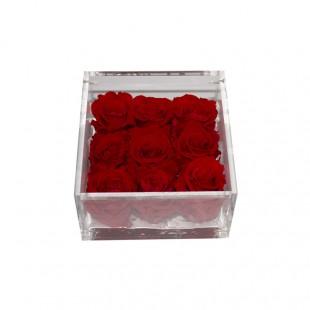 Mattonella di 9 Rose Rosse...